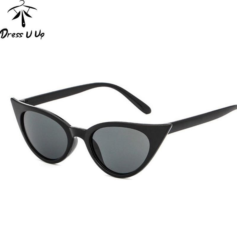 e6612064ad DRESSUUP Retro Cat Eye Sunglasses Women Brand Designer Shades UV400 Sexy  Female Sun Glasses Occhiali Oculos De Sol Mujer Sunglasses For Women Cat Eye  ...