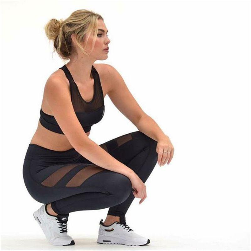 09db731540 2019 High Quality Fitness Gym Leggings Pants High Waist Women Sports  Leggings Elastic Yoga Pants Hollow Out Design Capris From Jm_fashion,  $16.59 | DHgate.