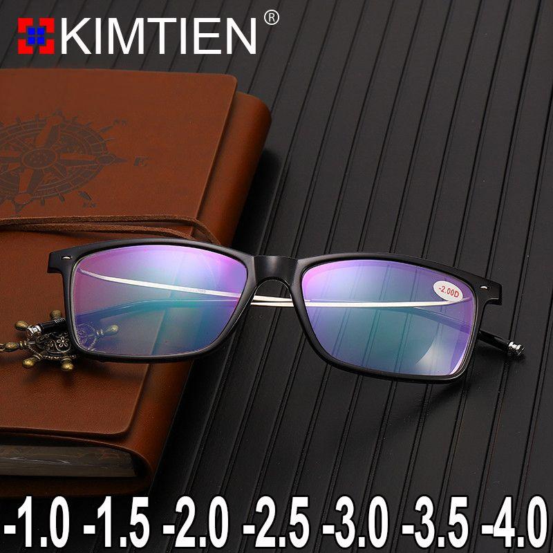 Compre Miopia Armações De Óculos 1.0 1.5 A 4.0 Homens Óculos Oculos De Grau  Lentes Opticos Mujer Óculos De Prescrição Óculos De Armação Óptica De  Strips, ... 66b66b1cf3