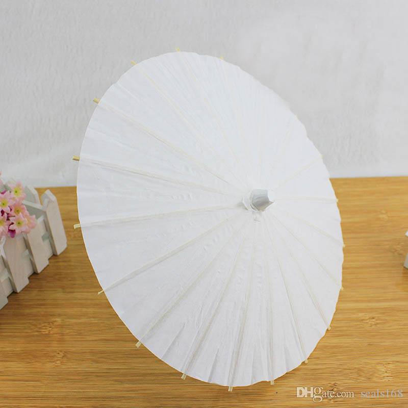Braut Hochzeit Papierschirme handgemachte einfache chinesische Mini Handwerk Regenschirm für hängende Ornamente Durchmesser: 20-30-40-60cm HH7-993
