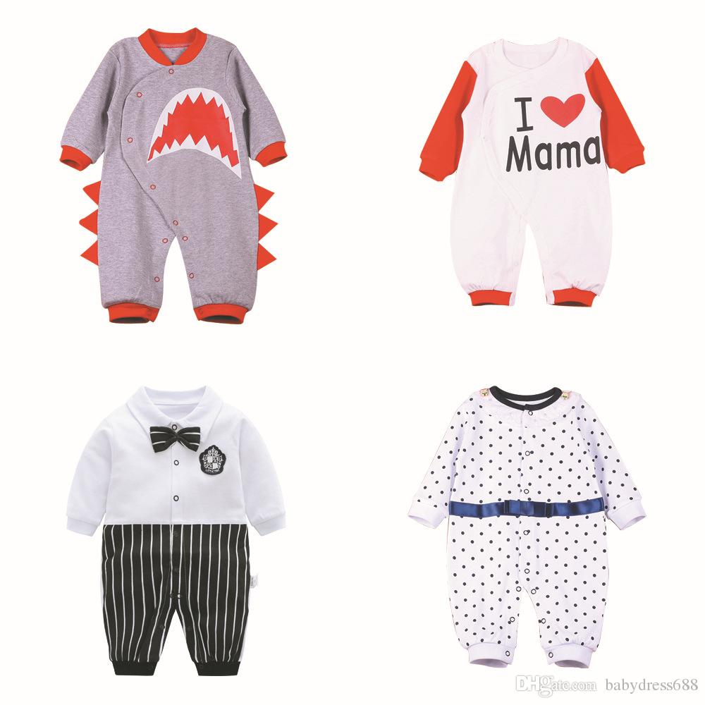 ec34f8691 Baby Clothes Spring And Autumn Baby Long Sleeved One Piece Rompers ...
