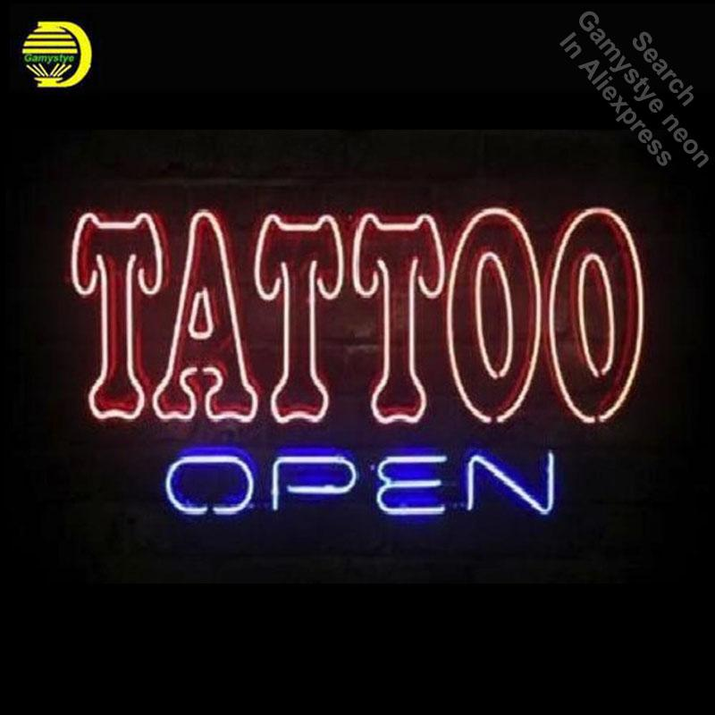 Personalized Neon Signs Adorable 60 Business Custom Neon Sign Board For Tattoo Open Real Glasstube