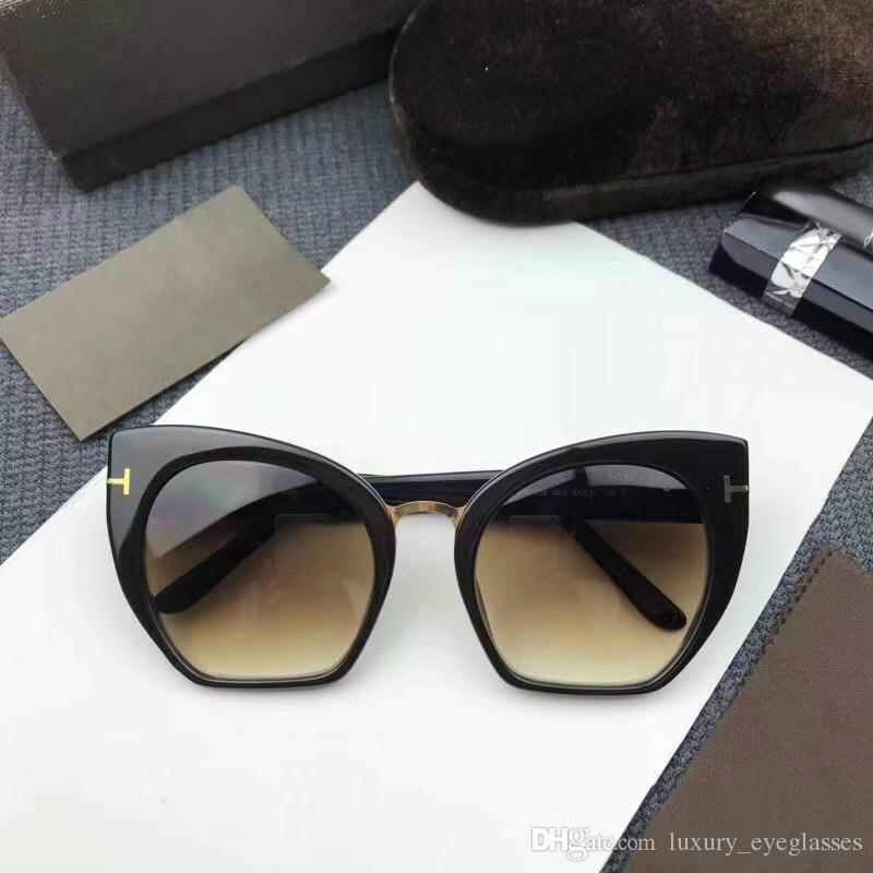1772eb542 Fashion Cat Eye Sunglasses Women Designer Eyewear Metal UV400 Sun Glasses  Female Colorful Gradient Sport Sunglasses Prescription Sunglasses Online  From ...