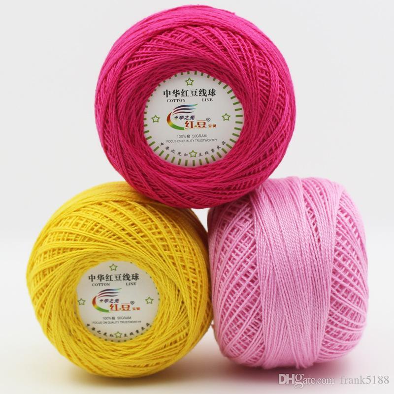 купить оптом 1ball 50g Lace Yarn 100 хлопчатобумажная пряжа для