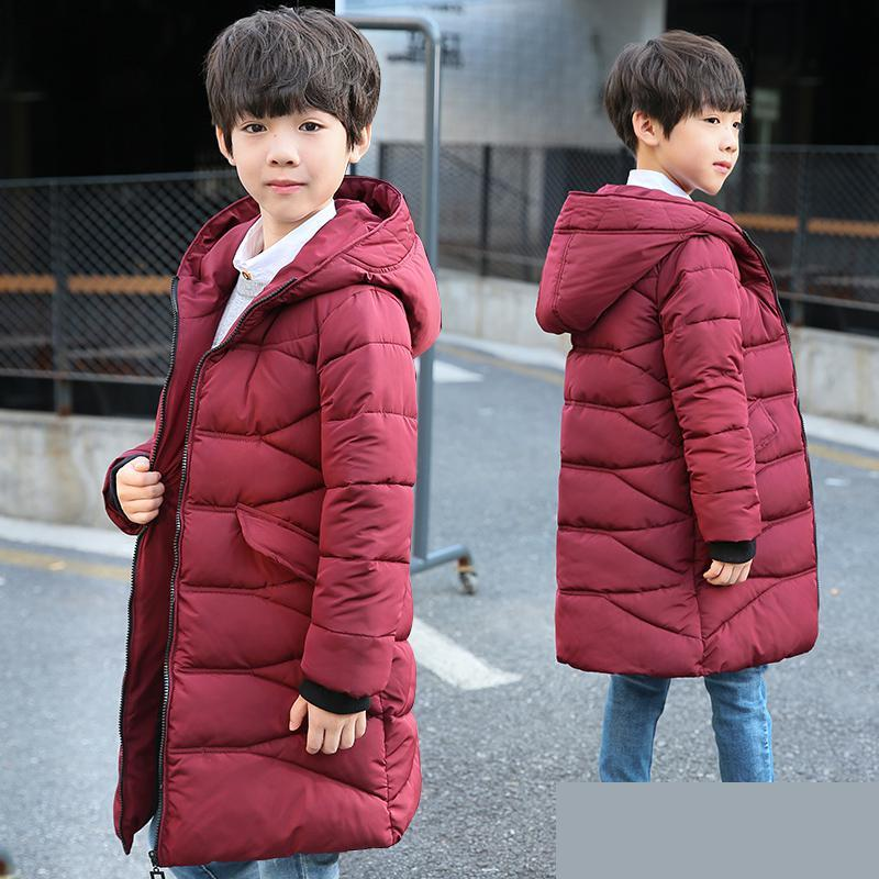 6ade82a74 Boys Winter Jacket Warm Thick Hooded Coats 2018 Fashion Toddler Baby ...