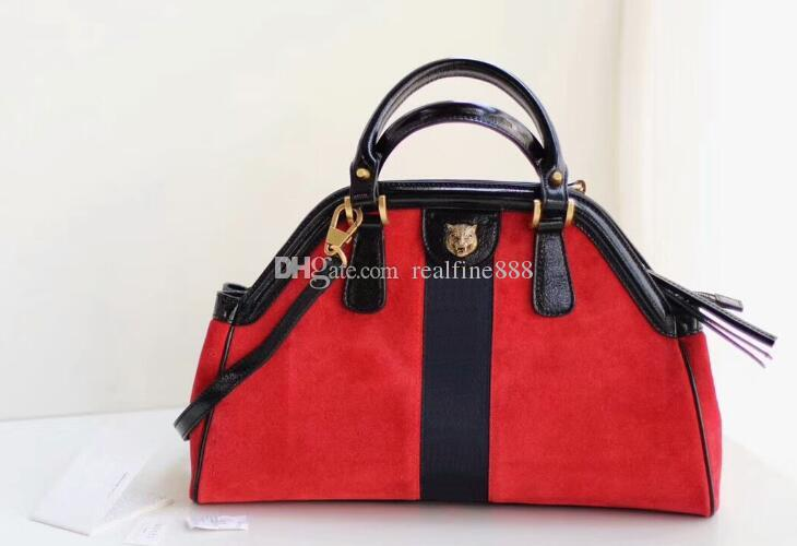 5A 516459 39cm ReBelle Medium Top Handle Totes bag,Metal Feline Head,Microfiber Lining,Come with Dust Bag