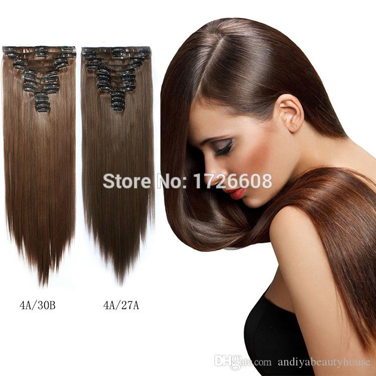 New Style The Royal Long 24inch Synthetic Clip In Hair Extensions