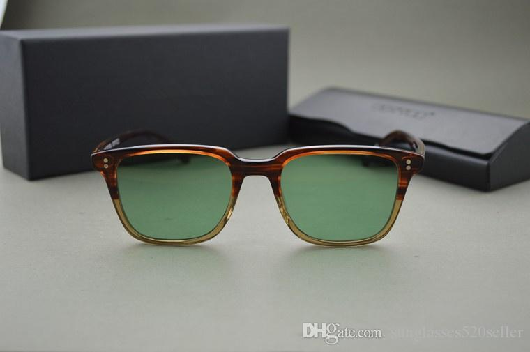 HOT!Custom dyed lens Oliver peoples ov5031 NDG-1-P sunglasses men and women Vintage square sunglasses with original case