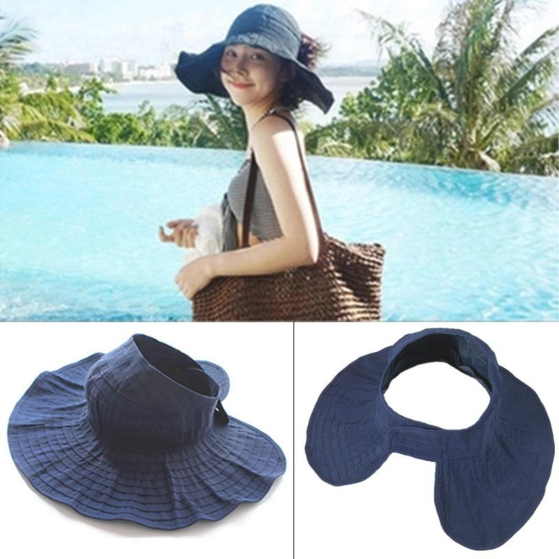 50223563521 2018 New Women Casual Sun Hats Summer Beach Anti Ultraviolet Cap Foldable  Sunscreen Caps Wholesale Hats For Women Trilby Hat From Lovesongs