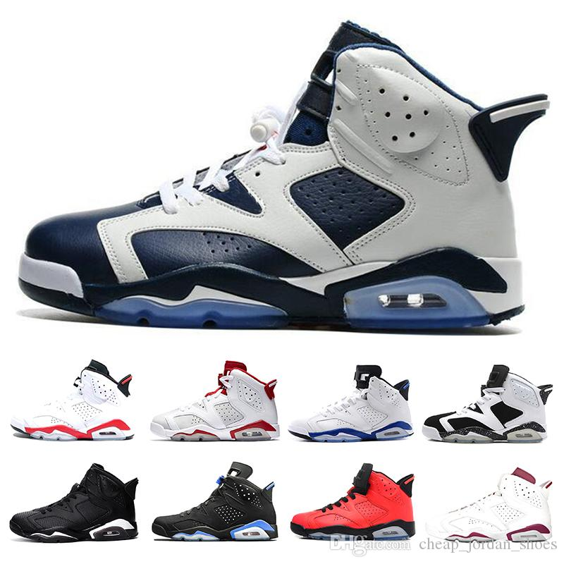 0b99f23f750c9e 2018 New 6 6s Men Basketball Shoes Unc Black Cat Infrared Sport Blue Maroon  Olympic Alternate Hare Oreo Mens Trainers Sports Shoe Sneakers Boys  Basketball ...