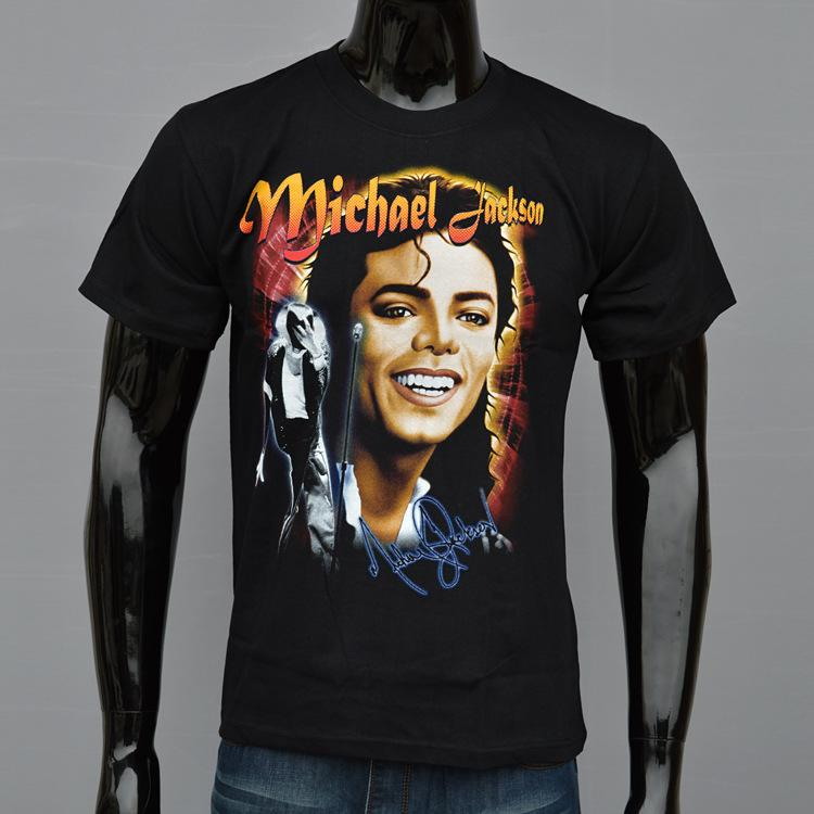 Michael Jackson Personalized 3D Printed Men S T Shirt Summer Cotton Short Sleeved  T Shirt Black Man Fashion Tees Tops Make A Tee Shirt Funniest T Shirts ... 1afec5fd83c3