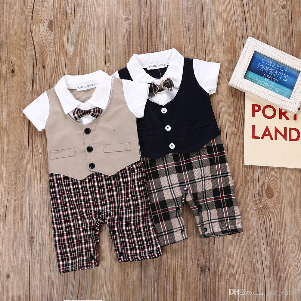 d9386a93526a 2019 Layered Infant Clothing Sets Romper Jumpsuit For Boy Baby ...