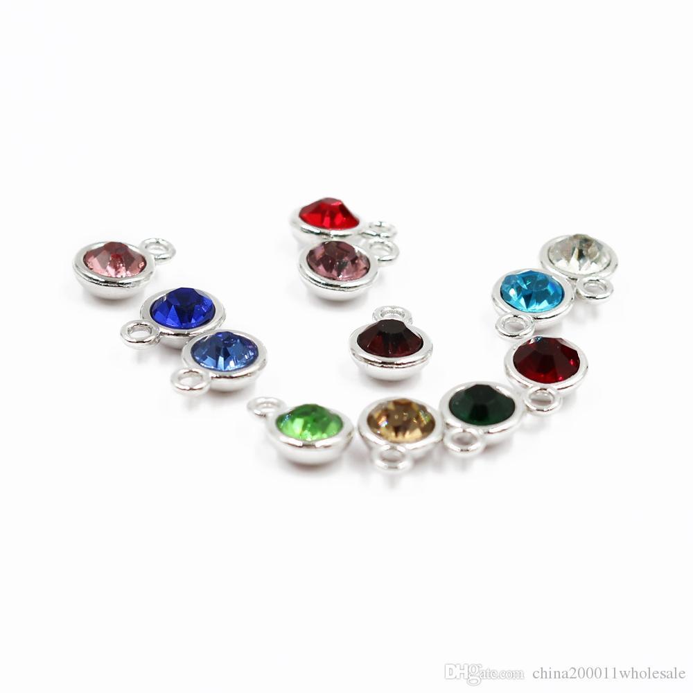 12p جيم / لوط 12 الألوان المولد سحر قلادة قلادة السحر هانغ صالح قلادة على سلسلة قلادة DIY مجوهرات شحن مجاني