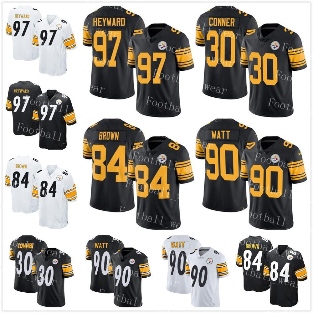 b134c10ce2a 2018 Pittsburgh Steelers Jersey 30 James Conner 90 T. J. Watt 97 Cameron  Heyward 91 Stephon Tuitt 86 Hines Ward 84 Antonio Brown 83 Heath Miller  From ...