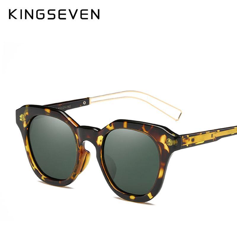 26c19b9424016 Compre Kingseven 2017 Dos Homens Da Marca Polarizada Óculos De Sol De  Condução De Viagem Masculino Clássico Óculos De Sol Com Caixa Original  Gafas Oculos ...