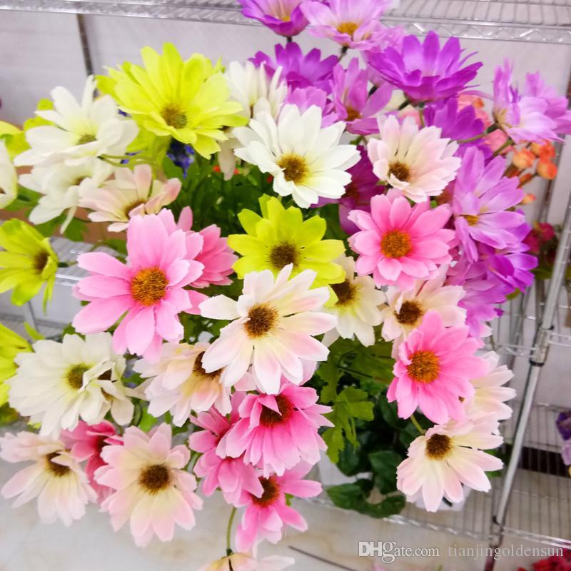 2019 Wholesale Artificial Flowers Silk Gerbera Daisy Flower From