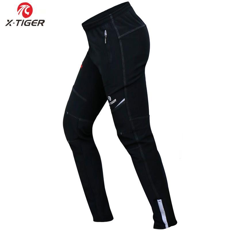 Compre X TIGER Multifuncional Polar De Invierno Pantalones Térmicos  Reflexivos Ciclismo Cintura Elástica Pantalones Largos De Bicicleta A  Prueba De Viento ... c5dccc16fad6