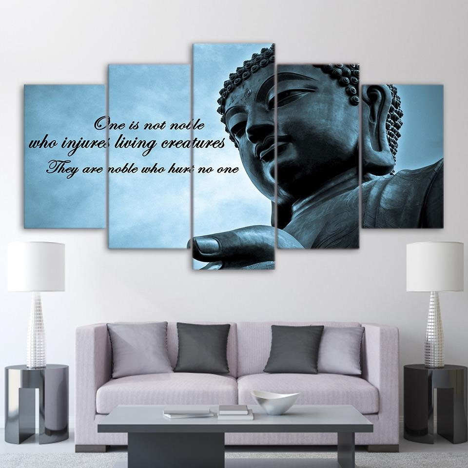 exceptional Zen Wall Art Part - 6: 2019 Wall Art Frame Pictures HD Printed Huge Buddha Statue Zen Canvas  Poster Modern Living Room Decor Art Painting Artwork From Z793737893, $8.89  | DHgate.