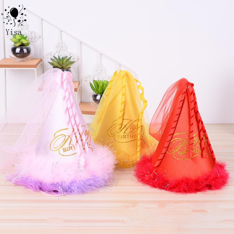 159fce39991 YISA Children S Birthday Party Supplies Tulle Plush Christmas Hat Pointed  Hat Princess Shop Xmas Decorations Shopping Christmas Decorations From  Kyouny