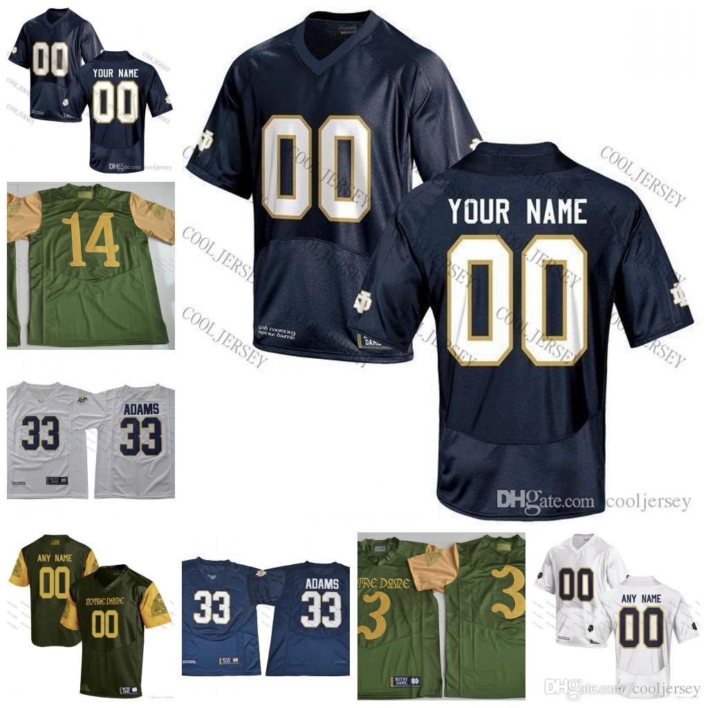 ... usa 2018 custom ncaa notre dame fighting irish college football  personalized 3 joe montana 33 josh f5bd0e3bd
