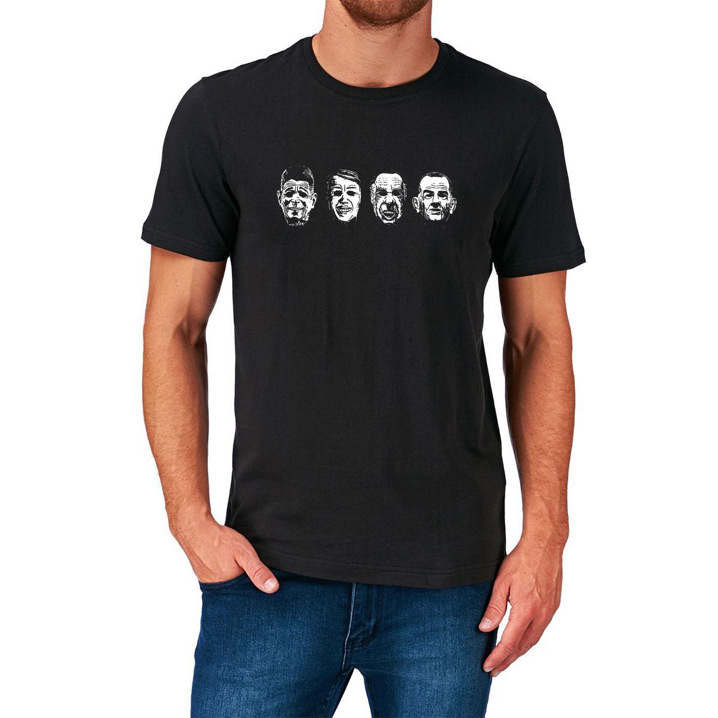 American Presidents T Shirt Usa Lincoln Nixon Jfk Reagen Flag Jersey