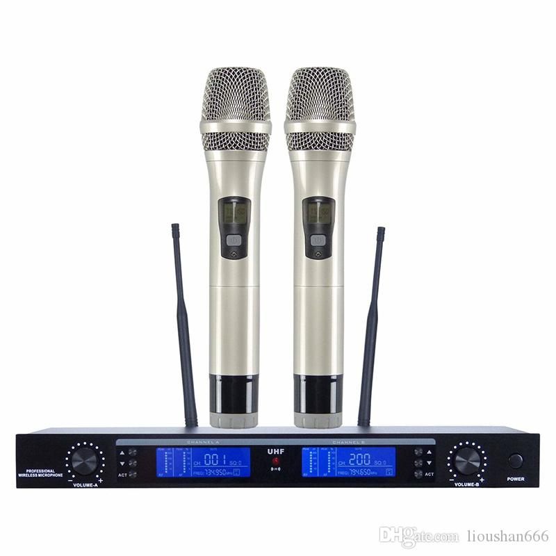Üstün kalite MS-800G Ses UHF Kablosuz Mikrofon 2 el mic KTV TAMAM ev açık sahne Profesyonel Kablosuz Mikrofon