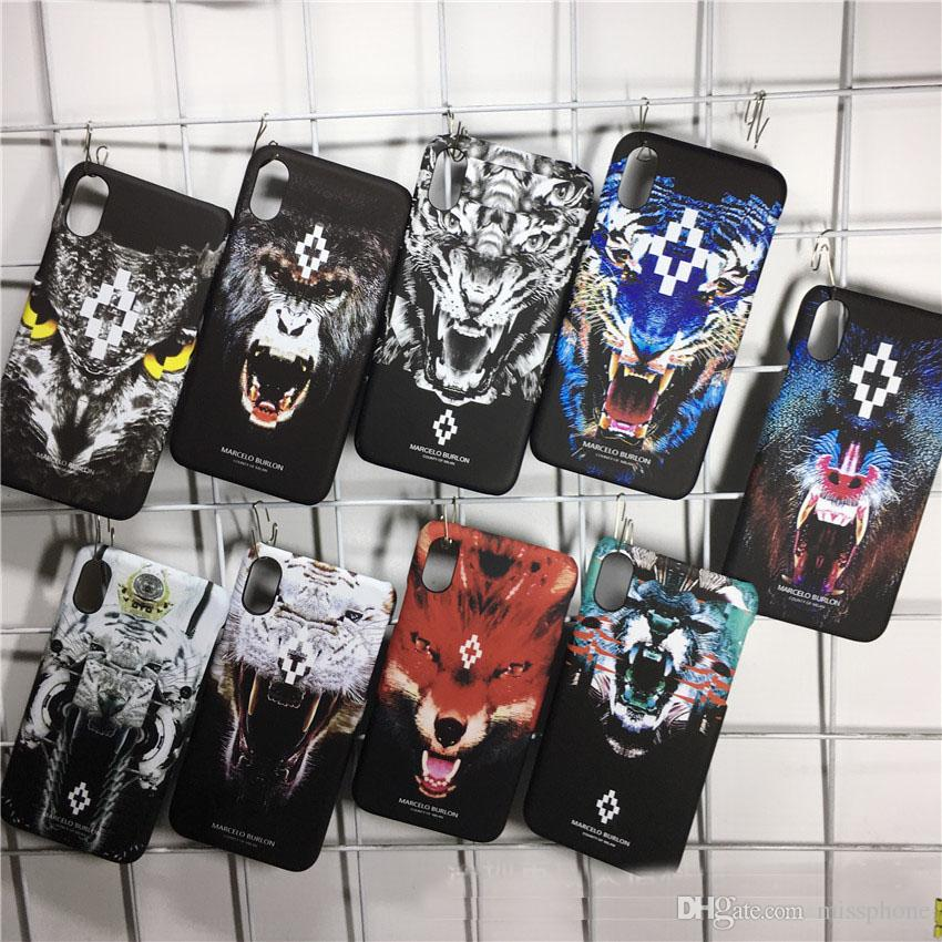 Marcelo Burlon Animal Cover Case Hard Pc Back Cover For Iphone X 5