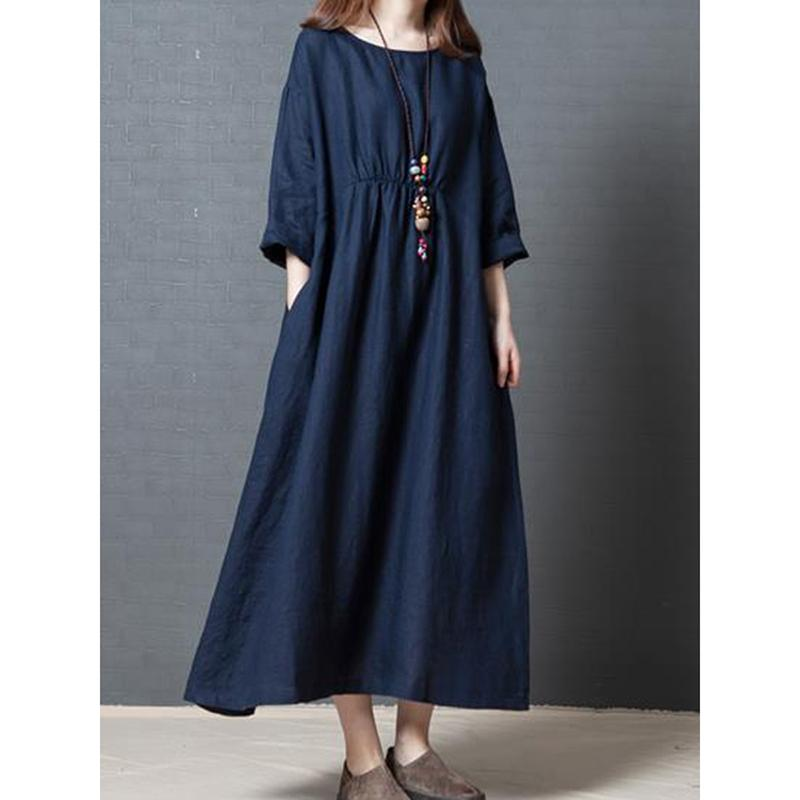 2019 Clearance 2018 3/4 Sleeve Women Dress Summer Japan Style Empire ...