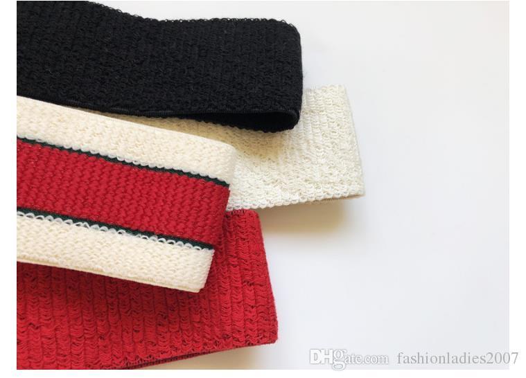 Marca Cinta elástica para mujeres y hombres mejor calidad Marca verdes y cabello rojo a rayas bandas pañuelo en la cabeza para los regalos de los niños headwraps