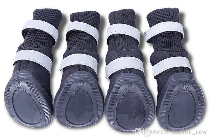 جودة عالية أحذية كبيرة الكلب اللوازم الكبيرة الكلاب أحذية للماء عدم الانزلاق اكسسوارات منتجات الحيوانات الأليفة S M L XL / set شحن مجاني