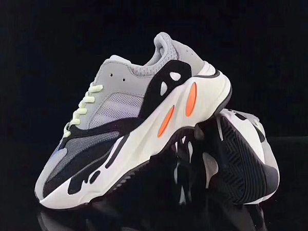 size 40 e7d8b 7b4c8 Kids Wave Runner 700 Boost Kanye West Running Shoes Baby Trainer Sneaker  BOOST 700 Sport Shoe Children Athletic Shoes Grey Black Blue