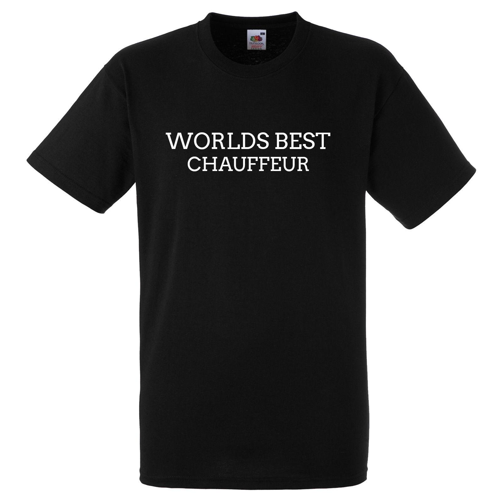 WORLDS BEST CHAUFFEUR BLACK T SHIRT Summer Casual Man T Shirt Good Quality Short Sleeve Cheap Sale Cotton T Shirt Irish