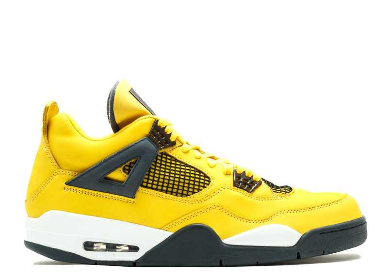 799a388d4b2 TOP Factory Version 4 Lightning Yellow Black Basketball Shoes Mens ...