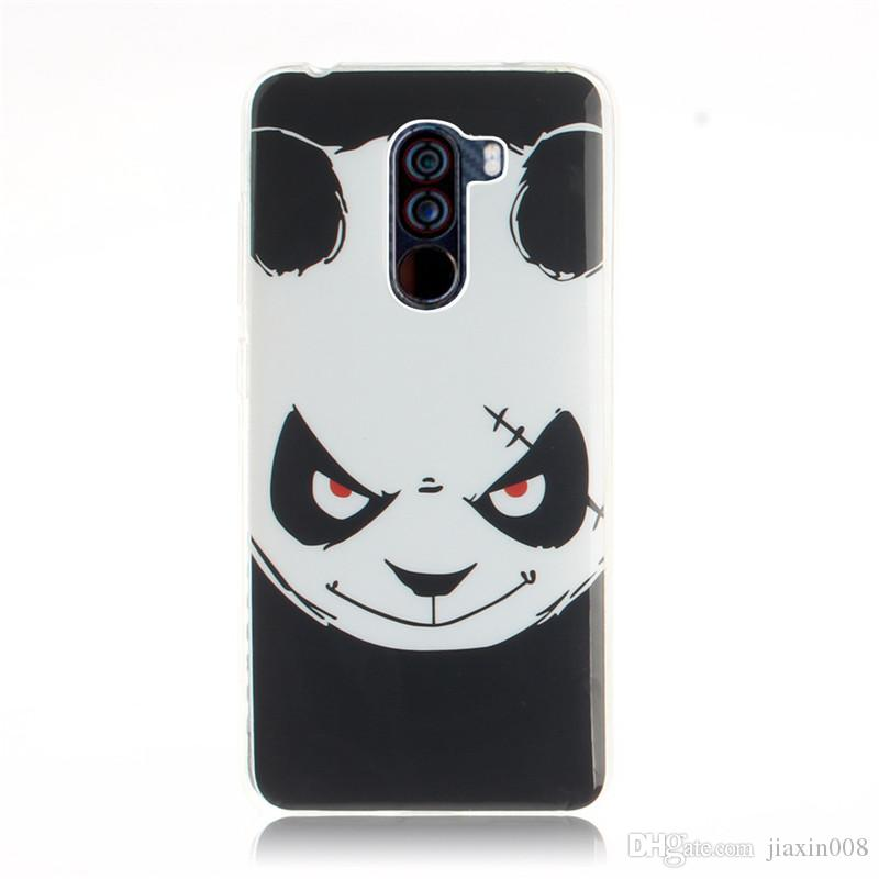 buy online 57527 2cd16 For Xiaomi POCOPHONE F1 POCO F1 Case Cover Fashion Soft TPU IMD Animal bear  cat Squirrel Flower pattern Mobile Phone Cases