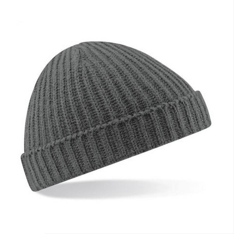 1d248d39c98 Winter Vintage Solid Warm Hats for Women Knied Plain Beanie Men Cap ...