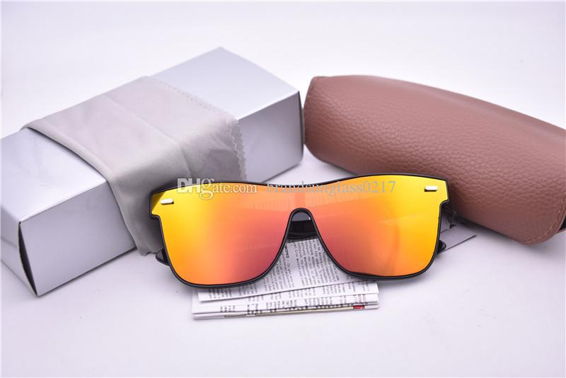 6abc16fe8de2 NEW Fashion Rice Nail Sunglasses for Men Women Driving Points Sunglass Black  Frame Eyewear Golden Lens Sun Glasses UV 4440 with Case Box Sunglasses for  ...