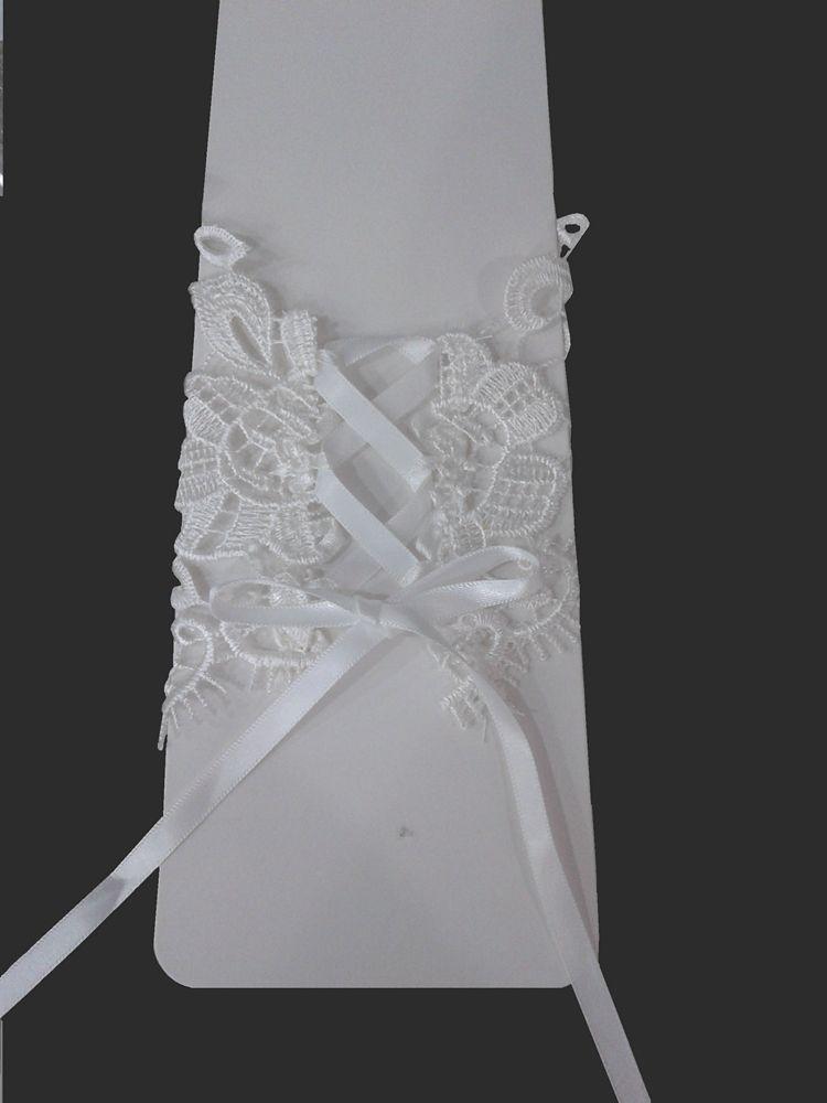 2018 Горячие продажа свадебные перчатки Слоновой Кости или белое кружево длинные пальцев элегантные свадебные перчатки дешевые