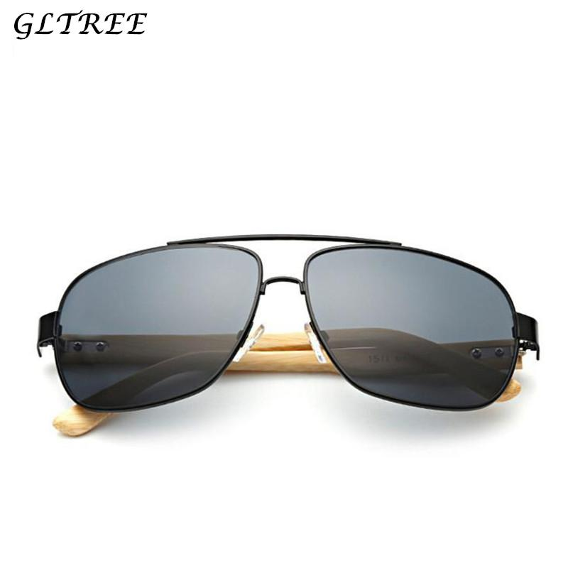 0a580509d4f GLTREE 2018 Bamboo Wooden Sunglasses Men Vintage Handmade Polarized ...