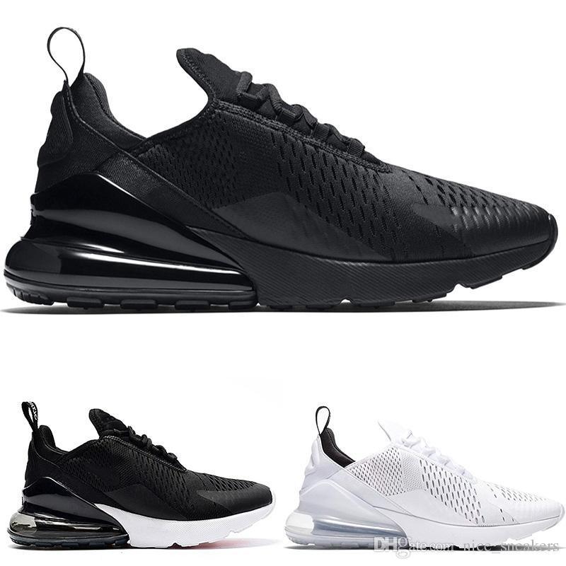 e5c2412cf3b2bc Big Size 36-49 270 Men Women Running Shoes Core Triple Black White ...
