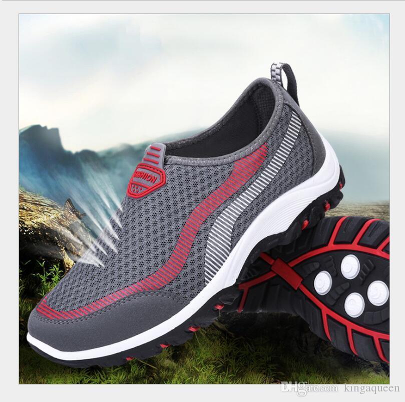 Compre 2018 Nuevos Llegan Los Hombres Zapatos Cómodos Respirables Para  Hombre Zapatos Casuales Zapatos Planos Slipony Mujeres Zapatillas De  Deporte Hombres ... a35080f809d