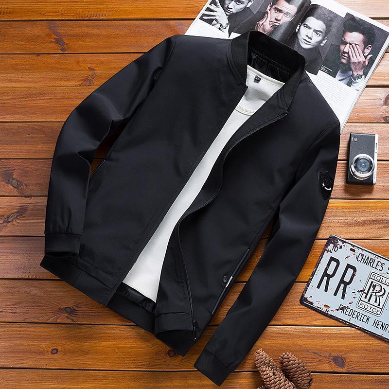 8a5818fb72ea 2018 New Spring Black Bomber Jacket Men Streetwear Hip Hop Slim Fit Pilot  Bomber Jacket Coat Men Jackets Plus Size 4XL Denim Fur Jacket Black Coat  Mens From ...