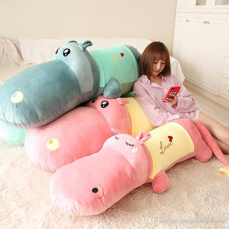 2019 Dorimytrader Jumbo Soft Animal Hippo Plush Pillow Toy Big