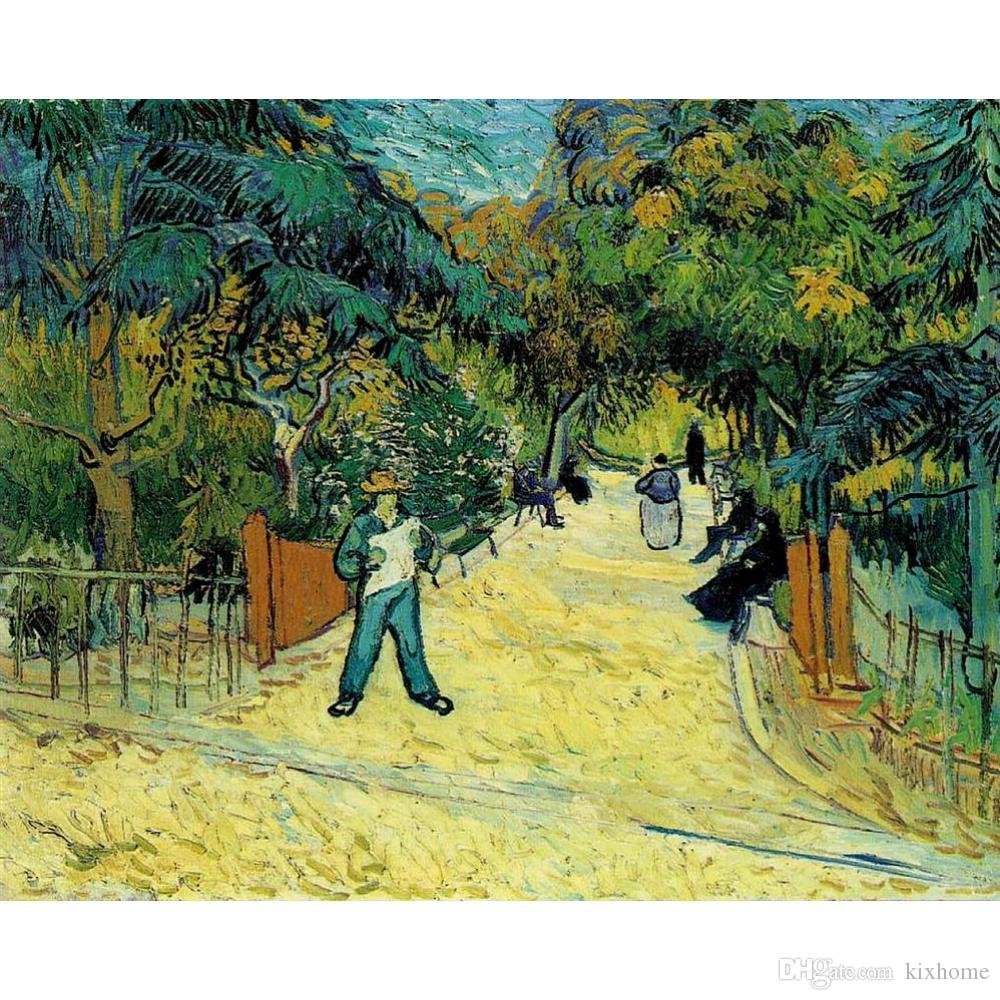 2018 Wall Art Oil Painting Entrance To The Public Garden In Arles ...