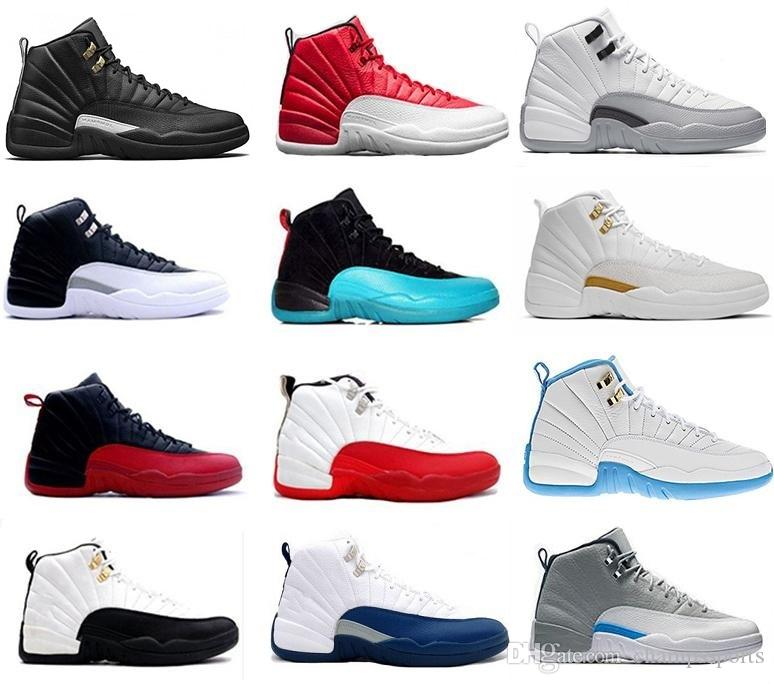 97e49a042c7e High Quality 12 12s OVO White Gym Red Dark Grey Basketball Shoes Men Women  Taxi Blue Suede Flu Game CNY Sneakers Size 36 47 Cp3 Shoes Kids Sneakers  From ...