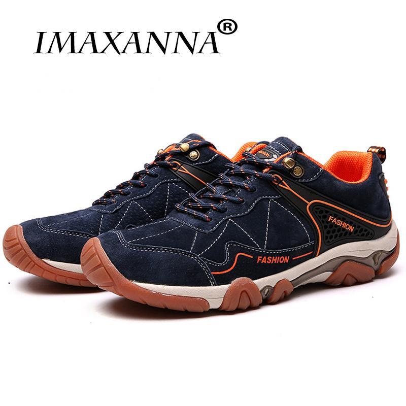 online retailer f2e9f acba8 Compre Imaxanna Alta Calidad De La Marca De Los Hombres Zapatillas De  Deporte Al Aire Libre Zapatos De Senderismo Hombres Zapatillas De Verano  Calzado De ...