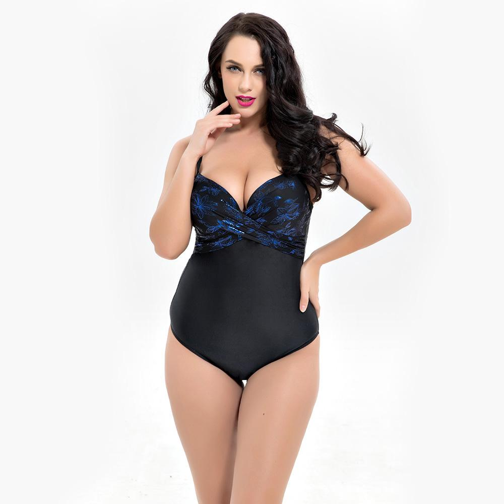 2019 6XL Large Big Plus Size Swimwear For Women Sexy One Piece Swimsuit 2018  Slimming Female Print Retro Beach Bathing Suit Bodysuit From Sinhsportmall e0ac9666891d
