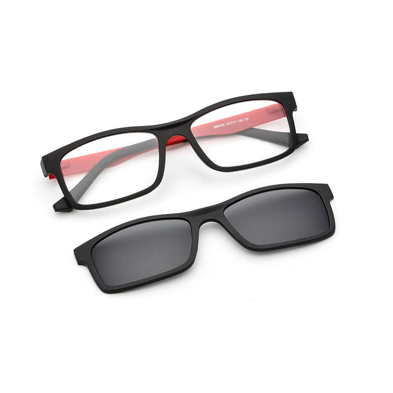 13e84107a6 The Double Lenses Men Polarized Sunglasses Comfortable TR Rectangle Glass  Frames For Men Optical Glasses Frame Size 53 17 140mm Reading Glasses  Prescription ...