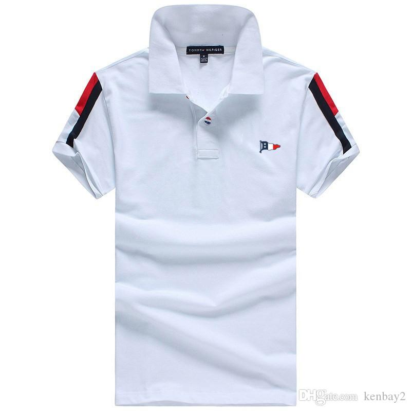 af922d87cac2 Luxury Brand Hil  Men Polo Shirts Turndown Collar Embroidery LOGO Flag Classic  Mens T Shirts Summer Cotton Short Sleeve Men T Shirt Canada 2019 From  Kenbay2 ...