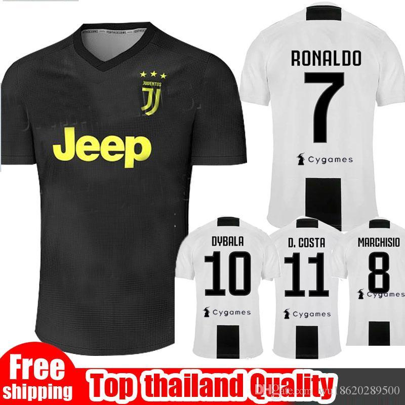Compre 2018 2019 Juventus Camisa De Futebol 18 19 RONALDO DYBALA Camisa De  Futebol D. Costahome Longe Terceira Camisa De Jersey De Futebol Uniforme  SIZE S ... 8a4b5dc9df803