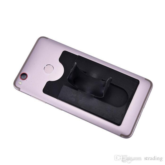 13 Renkler Evrensel Taşınabilir U-tipi Telefon Standı Tutucu 3 M Sticker Dokunmatik Silikon Cüzdan Banka Kredi Kartı Yuvası Braketi Için iphone ...